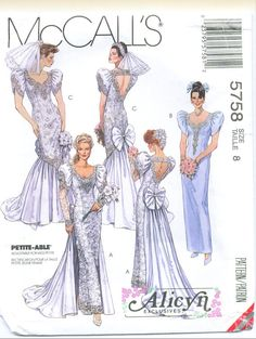 McCall's 5758 Alicyn Wedding Dress Sewing Pattern by sewingandsuch, $19.50