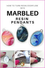 Don't throw away the resin that drips over the edge of your resin art canvases. Instead, make pretty marbled pendants from it. Just cut to the size of a bezel and glue it in with epoxy adhesive for a quick and easy piece of jewellery. Resin Jewelry Tutorial, Resin Tutorial, Diy Resin Crafts, Jewelry Crafts, Handmade Jewelry, Cork Crafts, Canvas Crafts, Easy Crafts, Making Resin Jewellery