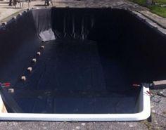 Vervangen vijverfolie in bestaand zwembad door GJ Folietechniek