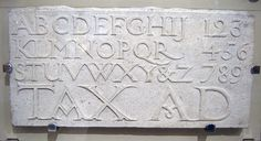 Eric Gill alphabet & numerals (1909) by typojo, via Flickr