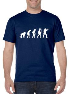Men's T Shirt Hunting Evolution Funny Hunting Tee Shirt  #tshirt #trendy #menswear #evolution #fashion