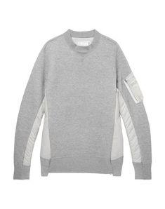 Sacai Women Sweatshirt on YOOX. The best online selection of Sweatshirts Sacai. Mens Designer Hoodies, Margiela Sneakers, Japanese Streetwear, Grey Sweatshirt, Sportswear Brand, Fashion Online, Men Sweater, Mens Fashion, Sweatshirts