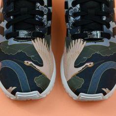 Scarpe da ginnastica adidas originali zx flusso surf benzina / gesso scarpe bianche