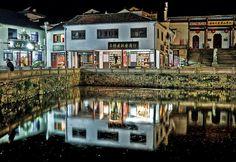 Jiuhuashan, China, Night, Pond