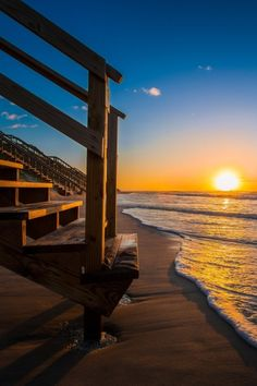 At sunset beach