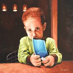 "Saatchi Art Artist Antonio Ramirez; Painting, ""Emi"" #art Mexican Art, Glare, Portrait"