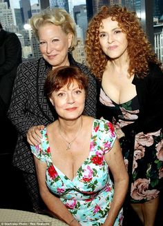 The 66-year-old stunner took the spotlight at the event where she posed alongside Bette Midler and Bernadette Peters