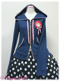 Angelic Pretty French Doll Parka - Navy