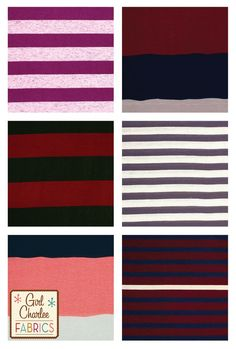 Girl Charlee Fabrics New Arrivals today is full of stripes! We have big stripes, little stripes and wavy stripes, in perfectly on trend colors! Shop these super soft new knits only at Girl Charlee