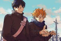 Haikyuu!! ~~ Walking in winter means cold hands :: Kageyama  Hinata