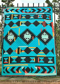 Night Music In The Desert - Native American Quilt Blanket Quilting Projects, Quilting Designs, Quilt Design, Spiral Quilting, Quilting Fabric, Southwestern Quilts, Southwest Style, Indian Quilt, Indian Rugs