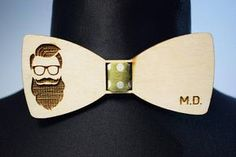 Hipster Wooden Bow Tie/Custom engraving/Personalised gift for