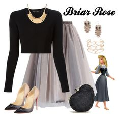 """Briar Rose"" by violetvd ❤ liked on Polyvore featuring Chicwish, Proenza Schouler, Christian Louboutin, Full Tilt and Alexis Bittar"