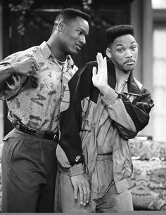 Bo Jackson messes around with Will Smith while filming the Fresh Prince of Bel-Air episode ''Someday Your Prince will be in Effect: Part 1 & Will Smith Tv Show, Prinz Von Bel Air, Arte Dope, Nostalgia, Indie, Bo Jackson, Black Actors, Fresh Prince, Auburn University