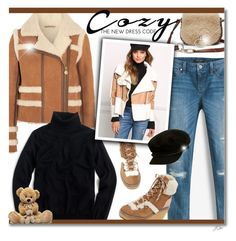 """""""Cozy: The New Dress Code"""" by jgee67 ❤ liked on Polyvore featuring Diane Von Furstenberg, Carven, White House Black Market, J.Crew, See by Chloé, Brixton, cozy, polyvoreblogger, polyvoreeditorial and cozychic"""