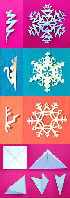 Snowflake Template, Snowflake Cutouts, Diy Snowflakes, Arts And Crafts Interiors, Fun Arts And Crafts, Fun Crafts, Paper Crafts, Printable Activities For Kids, Craft Activities