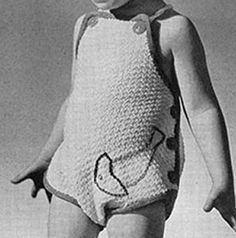 Ravelry: Sun Suit pattern by The Spool Cotton Company Kids Clothes Patterns, Clothing Patterns, Knitting For Kids, Baby Knitting, Suit Pattern, Vintage Knitting, Crochet, Knitting Patterns, Kids Outfits