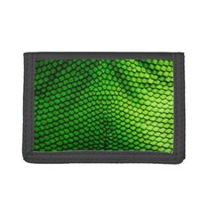 Green Snake Scales Trifold Wallet Purse - accessories accessory gift idea stylish unique custom