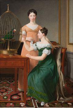 Bella and Hanna, the eldest daughters of writer Mendel Levin Nathanson   Christoffer Wilhelm Eckersberg (1820)