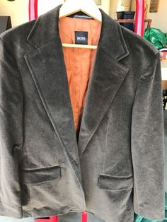 598a10b5c MENS SIZE L LARGE HUGO BOSS JACKET BLAZER WOOL Suede  fashion  clothing   shoes  accessories  mensclothing  suitssuitseparates (ebay link)