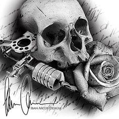 Похожее изображение Skull Tattoo Design, Skull Tattoos, Chicano Tattoos, Tattoo Designs, Sleeve Tattoos, Tattoo Sketches, Tattoo Drawings, Mago Tattoo, Dibujos Tattoo