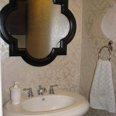 Wallpaper Bathroom Design Ideas, Pictures, Remodel, and Decor - page 11