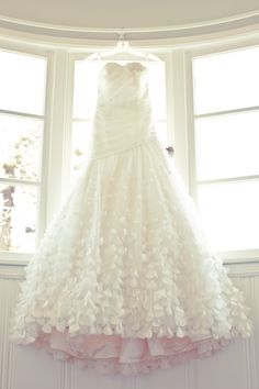 Melissa Sweet 'Uma' Silk Organza Petal Gown - 20 Unconventional Wedding Dresses for the Modern Bride via Brit + Co. Sweet Wedding Dresses, Designer Wedding Dresses, Melissa Sweet Bridal, Bridal Gowns, Wedding Gowns, Wedding Attire, Wedding Bells, Unconventional Wedding Dress, Nontraditional Wedding