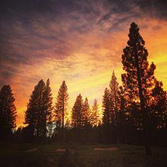 Sunset over #schaffersmill? #truckee #tahoe #sunset