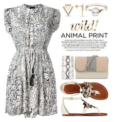 """🐾 ANIMAL-PRINT 🐾 3671"" by boxthoughts ❤ liked on Polyvore featuring Just Cavalli, Tory Burch, Nine West, Amorium and Missguided"