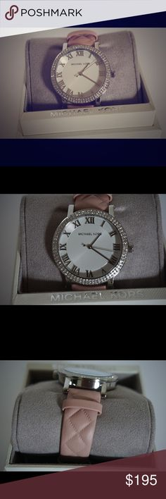 Michael Kors women's watch New! ✨ comes with box and care book. BEAUTIFUL! One of my favorites!! Has quilte style leather! Willing to consider reasonable offers so send them in! Michael Kors Accessories Watches