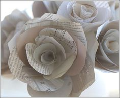 Paper rose flowers m