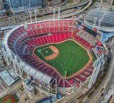Studio Apartment Floor Plans, Mlb Stadiums, Cincinnati Reds, Baseball Field, Hockey, Basketball Court, Club, How To Plan, Park