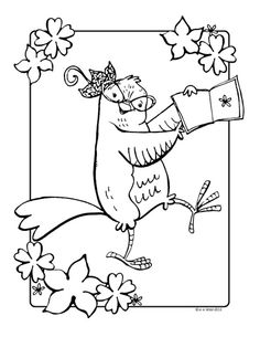 free coloring sheet from caterina and the perfect party wwwcaterinascorn