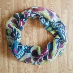 Colorful Gauzy Infinity Scarf Colorful Gauzy Infinity Scarf  Purple, Yellow, Turquoise, White, & Blue Colors  Gauzy, Spring Style  Great condition  #YS0505E07 Accessories Scarves & Wraps