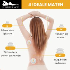 Cups voor Cellulititus - Cellulite Cupping Set - Cupping Massage Set Cupping Massage, Cupping Set, Body Foundation, Cellulite, Cups, Hair, Beauty, Mugs, Beauty Illustration