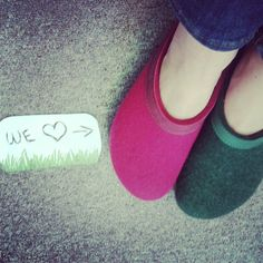 Two new colours are joining the #Haflinger #Grizzly collection of #wool #felt #clogs