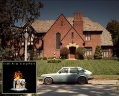 """Taking a closer look at the Tudor-style house where the Richardson family lives in Shaker Heights, Ohio, on the new Hulu series """"Little Fires Everywhere. Reese Witherspoon House, Shaker Heights Ohio, Practical Magic House, Temporary Structures, Tudor Style Homes, Boarding House, Forrest Gump, Plantation Homes, Print Wallpaper"""