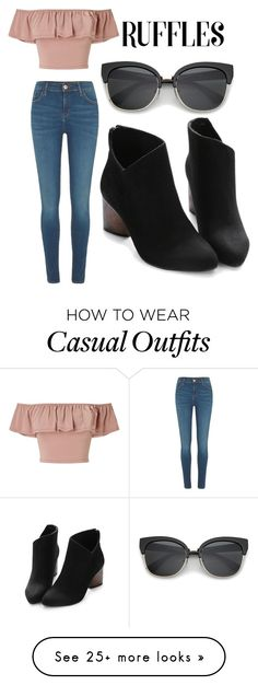 """""""Ruffle Top: Casual"""" by savedbyjesus on Polyvore featuring River Island and Miss Selfridge"""