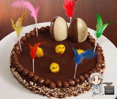 La mona es el dulce típico de Pascua en Catalunya y en algunos sitios de Aragón, Valencia y Murcia. En Catalunya existía la tradición de que el padrino regalara la mona a su ahijado/a el dom… Holy Week, Holi, Birthday Cake, Eggs, Easter, Chocolate, Sweet, Desserts, Murcia