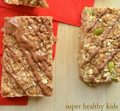 Delicious and Chewy Homemade Granola Bars for Nut-Free Kids | Healthy Ideas for Kids