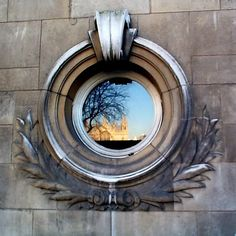 Empire Design Window This unusual window was found on a building across the street from Westminster Abbey in London and shows a reflection of the Abbey. Church Windows, Old Windows, Windows And Doors, Dormer Roof, Window Reveal, Empire Design, Architecture Details, Amazing Architecture, Leather Coasters