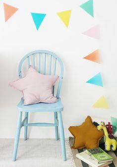 Pastel details for kid's room
