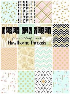 Very into fabrics with gold details right now--this bundle is delicious.