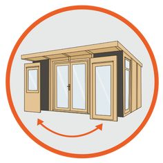 Buy Waltons 6 x Insulated Garden Room at Waltons Garden Buildings. UK made sheds, cabins and more. Free, fast delivery to most of UK Insulated Garden Room, Garden Buildings, Garden Spaces, Dream Garden, Home Office, House, Cabins, Furniture, Haus