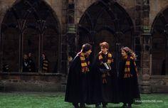 Harry Potter and the Chamber of Secrets - Publicity still of Daniel Radcliffe, Rupert Grint & Emma Watson