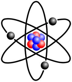 The atom is a basic unit of matter that consists of a dense central nucleus surrounded by a cloud of negatively charged electrons. The atomic nucleus contains a mix of positively charged protons and electrically neutral neutrons. The electrons of an atom are bound to the nucleus by the electromagnetic force. Likewise, a group of atoms can remain bound to each other, forming a molecule.