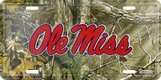 Realtree Camo Old Miss License Plate