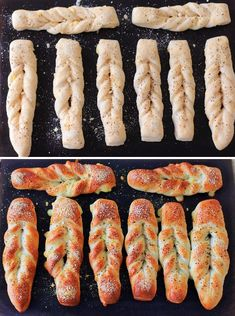 Bread Shaping, Braided Bread, Bread Recipes, Sausage, Bakery, Recipies, Rolls, Food And Drink, Cooking