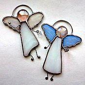 Лучистый Ангел - купить или заказать в интернет-магазине на Ярмарке Мастеров   Подвеска выполнена из витражного стекла в технике…