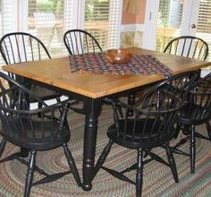custom made wormy chestnut farm kitchen table - Primitive Kitchen Tables